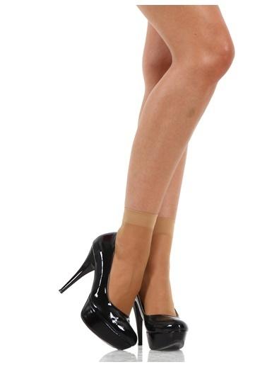 Miorre 4 Çift Likralı Soket Çorap Ten